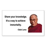 Dalai Lama 3 Rectangle Sticker