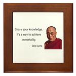 Dalai Lama 3 Framed Tile