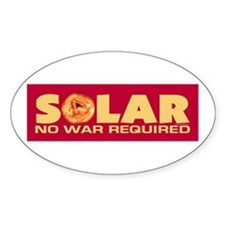 Solar - No War Required Oval Decal