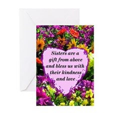 SISTER BLESSING Greeting Card