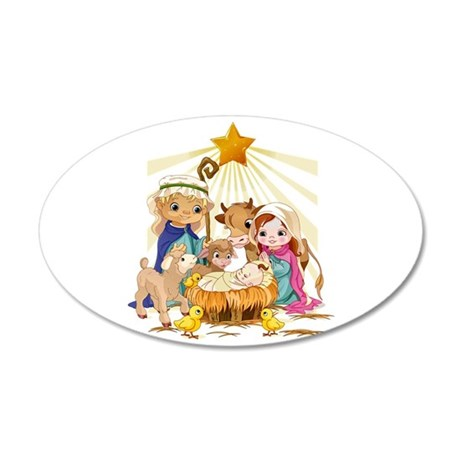 Nativity- 20x12 Oval Wall Decal