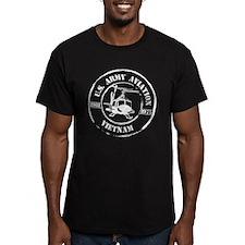 Army Aviation Vietnam Men's Fitted T-Shirt (dark)