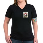 ARSENEAULT Family Crest Women's V-Neck Dark T-Shir