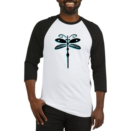 Teal Dragonfly Baseball Jersey