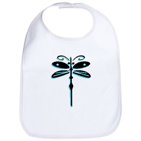 Teal Dragonfly Bib