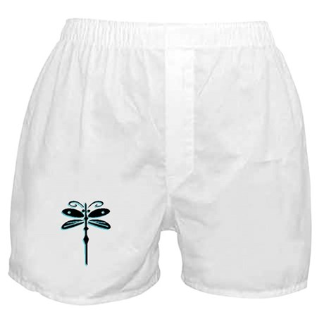 Teal Dragonfly Boxer Shorts