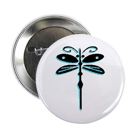 "Teal Dragonfly 2.25"" Button (100 pack)"