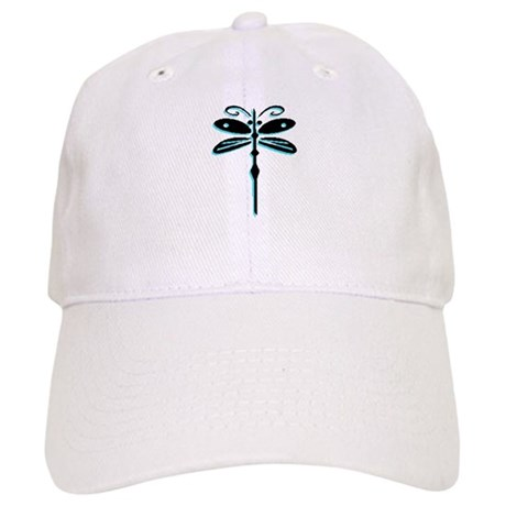 Teal Dragonfly Cap