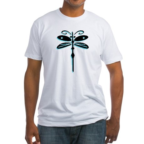 Teal Dragonfly Fitted T-Shirt