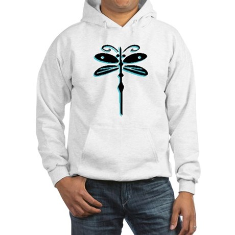Teal Dragonfly Hooded Sweatshirt