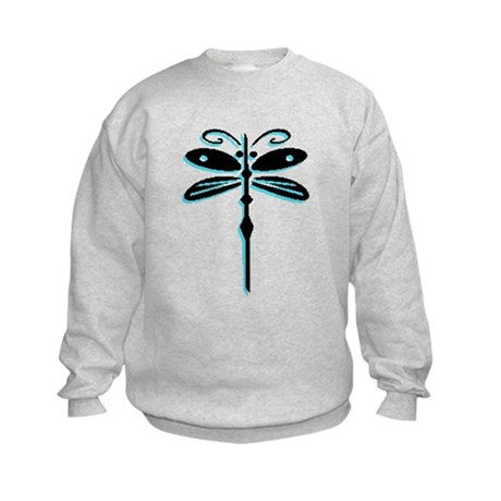 Teal Dragonfly Kids Sweatshirt