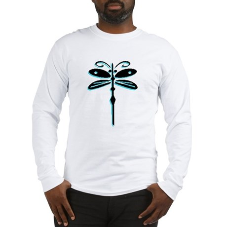 Teal Dragonfly Long Sleeve T-Shirt