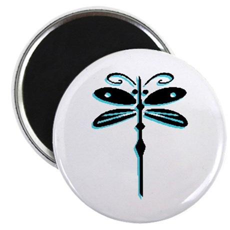 "Teal Dragonfly 2.25"" Magnet (100 pack)"