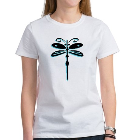 Teal Dragonfly Women's T-Shirt