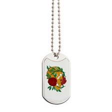 Skull and Roses Dog Tags