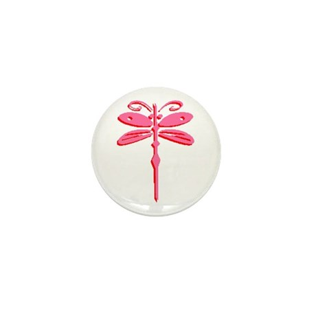 Pink Dragonfly Mini Button (100 pack)