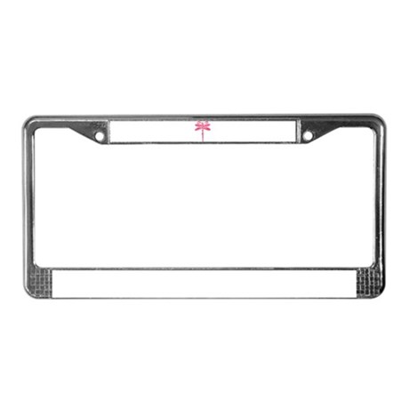Pink Dragonfly License Plate Frame