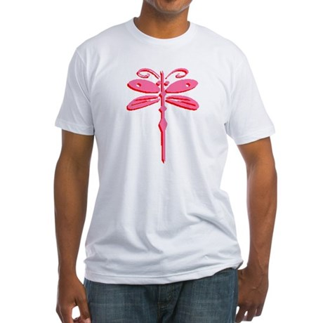 Pink Dragonfly Fitted T-Shirt