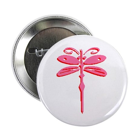 "Pink Dragonfly 2.25"" Button (100 pack)"