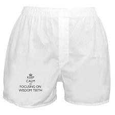 Keep Calm by focusing on Wisdom Teeth Boxer Shorts