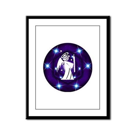 Starry Night Angel Framed Panel Print