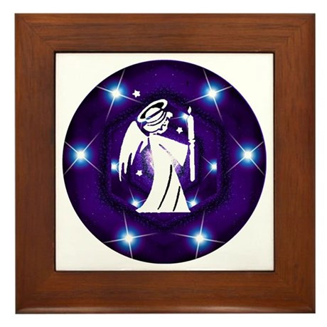 Starry Night Angel Framed Tile
