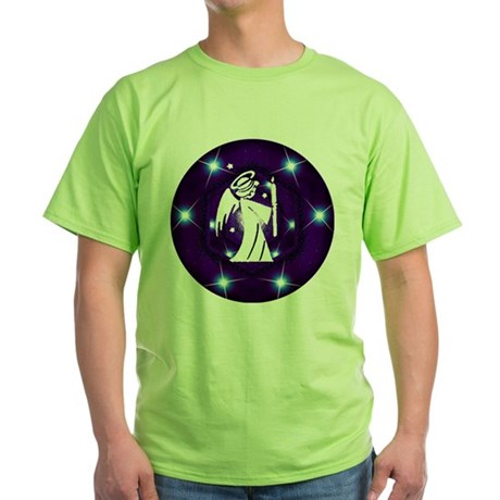 Starry Night Angel Green T-Shirt