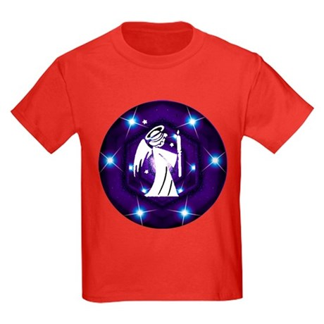 Starry Night Angel Kids Dark T-Shirt