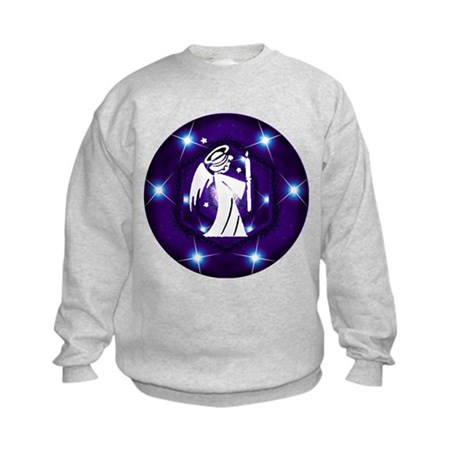 Starry Night Angel Kids Sweatshirt