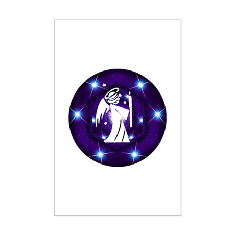 Starry Night Angel Mini Poster Print