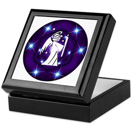 Starry Night Angel Keepsake Box