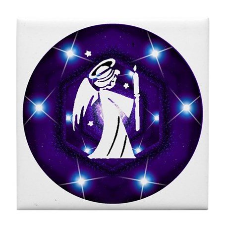 Starry Night Angel Tile Coaster