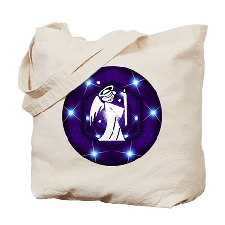 Starry Night Angel Tote Bag