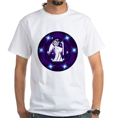 Starry Night Angel White T-Shirt