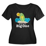 Ready For The Big One Surf Plus Size Scoop T-shirt