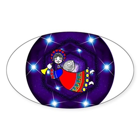 Flying Angel Oval Sticker