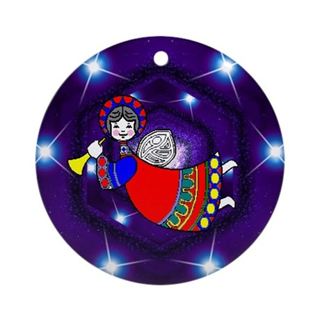 Flying Angel Ornament (Round)