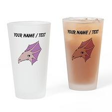 Purple Dinosaur Skull (Custom) Drinking Glass