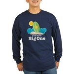 Ready For The Big One Surf Long Sleeve Navy Tee