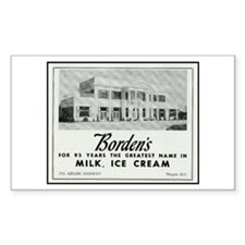 Borden's Dairy Sticker (Rect.)