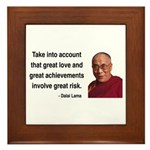 Dalai Lama 7 Framed Tile