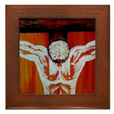 """Crucifixion"" Framed Tile"