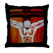 """Crucifixion"" Throw Pillow"