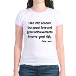 Dalai Lama Text 7 Jr. Ringer T-Shirt