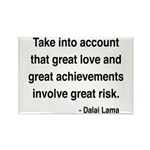Dalai Lama Text 7 Rectangle Magnet (10 pack)