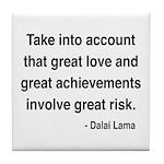 Dalai Lama Text 7 Tile Coaster