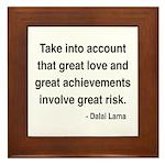 Dalai Lama Text 7 Framed Tile