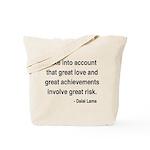 Dalai Lama Text 7 Tote Bag