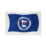 Mille Lacs Band Flag Rectangle Magnet (100 pack)