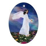 Birthday Oct. Angel : Oval Ornament
